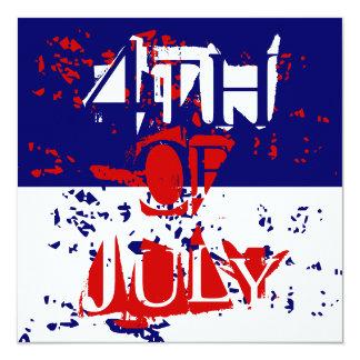 Quatrièmes 4 juillet invitations de partie