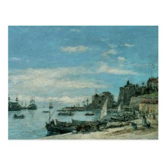 Quay at Villefranche, 1892 Postcard