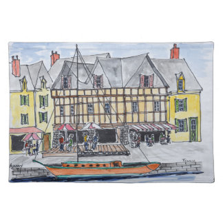 Quay Franklin, Saint-Goustan | Auray, Brittany Placemat