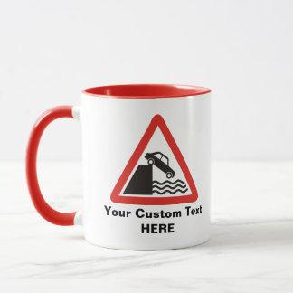 Quayside Warning Sign Mug