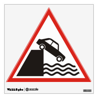Quayside Warning Sign Wall Decal