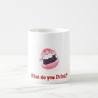 Que buvez-vous ? mug blanc