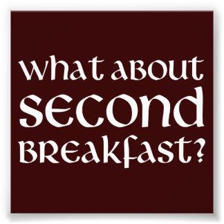 Que diriez-vous du deuxième petit déjeuner tirages photo