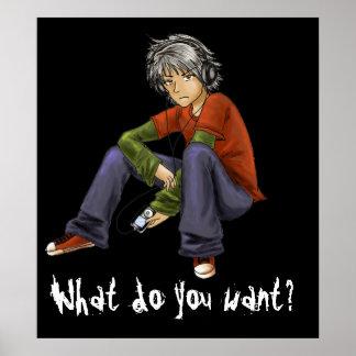 Que voulez-vous ? Affiche