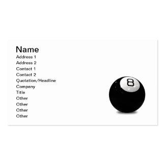QUEBALL POOL GAME SPORTS FUN ICON LOGO BLACK WHIT BUSINESS CARD