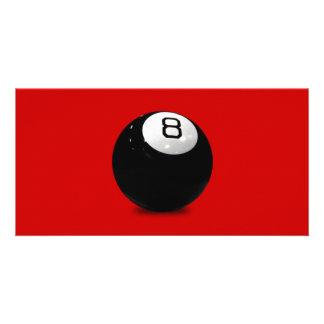 QUEBALL POOL GAME SPORTS FUN ICON LOGO BLACK WHIT PICTURE CARD