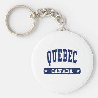 Quebec Basic Round Button Keychain