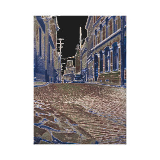 Quebec Canada 1930's Art Photograph Street scene Canvas Print