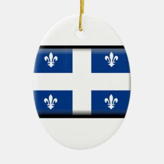 Quebec (Canada) Flag Ceramic Ornament