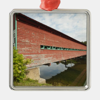 Quebec, Canada. Galipeault covered bridge in Metal Ornament
