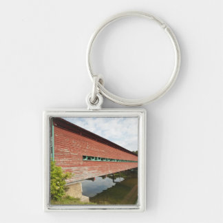 Quebec, Canada. Galipeault covered bridge in Silver-Colored Square Keychain