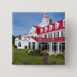 Quebec, Canada. Historic Hotel Tadoussac, 2 2 Inch Square Button