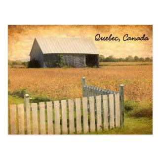 Quebec, Canada postcard