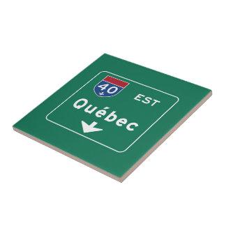 Quebec, Canada Road Sign Tiles
