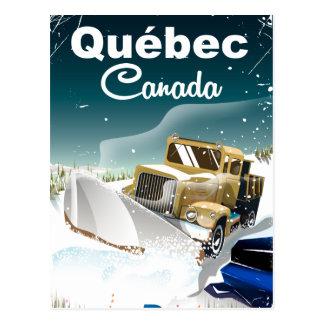 Québec Canada vintage travel poster Postcard
