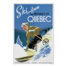 Quebec Canada Vintage Travel Poster Restored