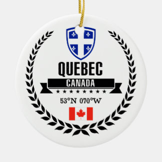 Quebec Ceramic Ornament