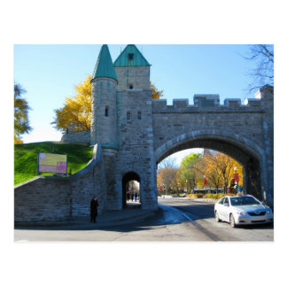 Quebec City Canada Castle Gates Postcard