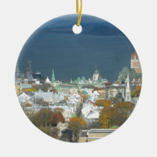 Quebec City Canada Waterfront Ceramic Ornament