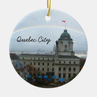 Quebec City Canda Waterfront Ceramic Ornament