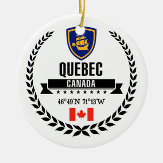 Quebec City Ceramic Ornament