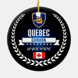 Quebec City Ceramic Ornament