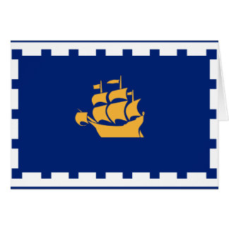 QUEBEC CITY Flag Card