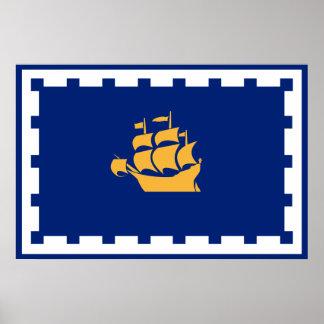 Quebec City flag Poster