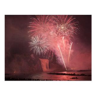 Quebec City, Quebec, Canada. Fireworks at Parc 2 Postcard