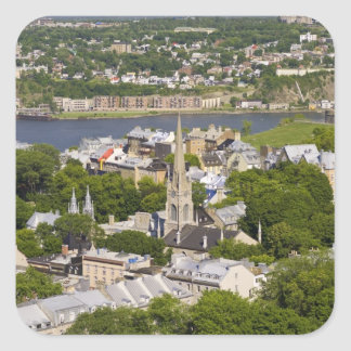 Quebec City, Quebec, Canada. Looking down on the Square Sticker