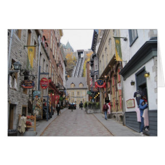 Quebec City Street Card