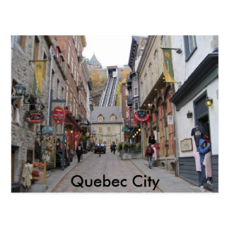 Quebec City Street Postcard