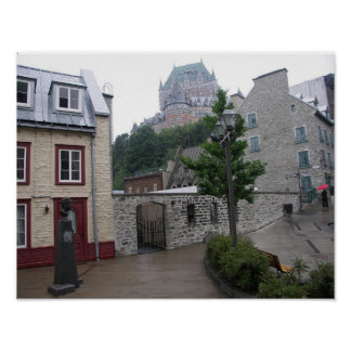 Quebec City Street Poster
