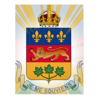Quebec Coat of Arms Postcard