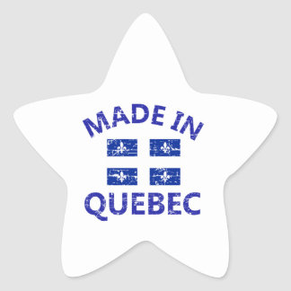 Quebec Coat of arms Star Sticker