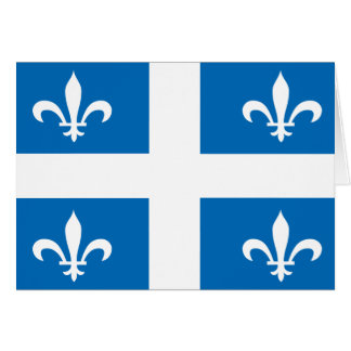 QUEBEC Flag Card