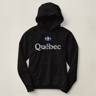 Quebec Flag Embroidered Hoodie