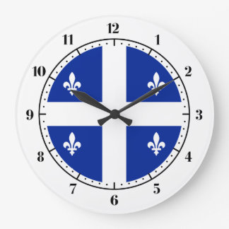 Quebec flag large clock