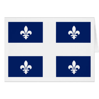 Quebec Flag (province) Greeting Card