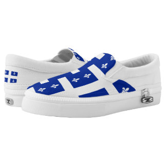 Quebec Flag Slip-On Sneakers
