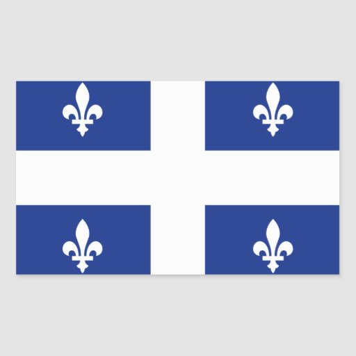 """Quebec"" Flag Rectangle Stickers"