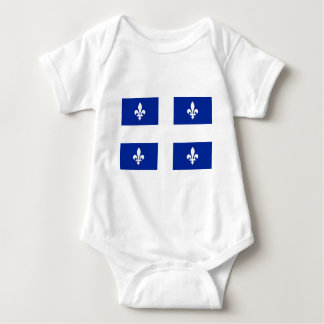 Quebec Flag - Vive le Québec libre Baby Bodysuit