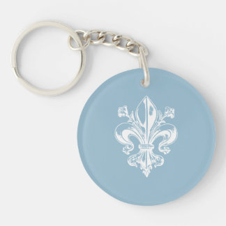 Quebec flower elegant lily Champlain - YOUR COLORS Keychain