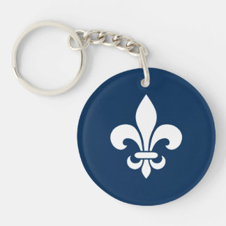 Quebec France flower of French lily - YOUR COLORS Keychain