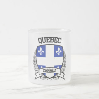 Quebec Frosted Glass Coffee Mug
