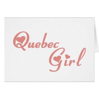 Quebec Girl Card