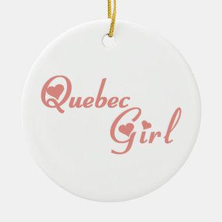 Quebec Girl Ceramic Ornament