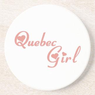 Quebec Girl Coaster