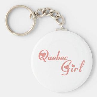 Quebec Girl Keychain