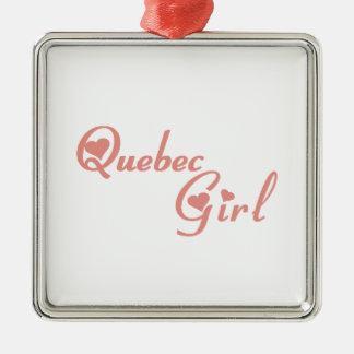Quebec Girl Metal Ornament